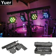 Hot Sale LED Par Kits 7X10W RGBW 4IN1 DMX 512 Control Dj Light With Stand and Foot Controller For Stage Wedding