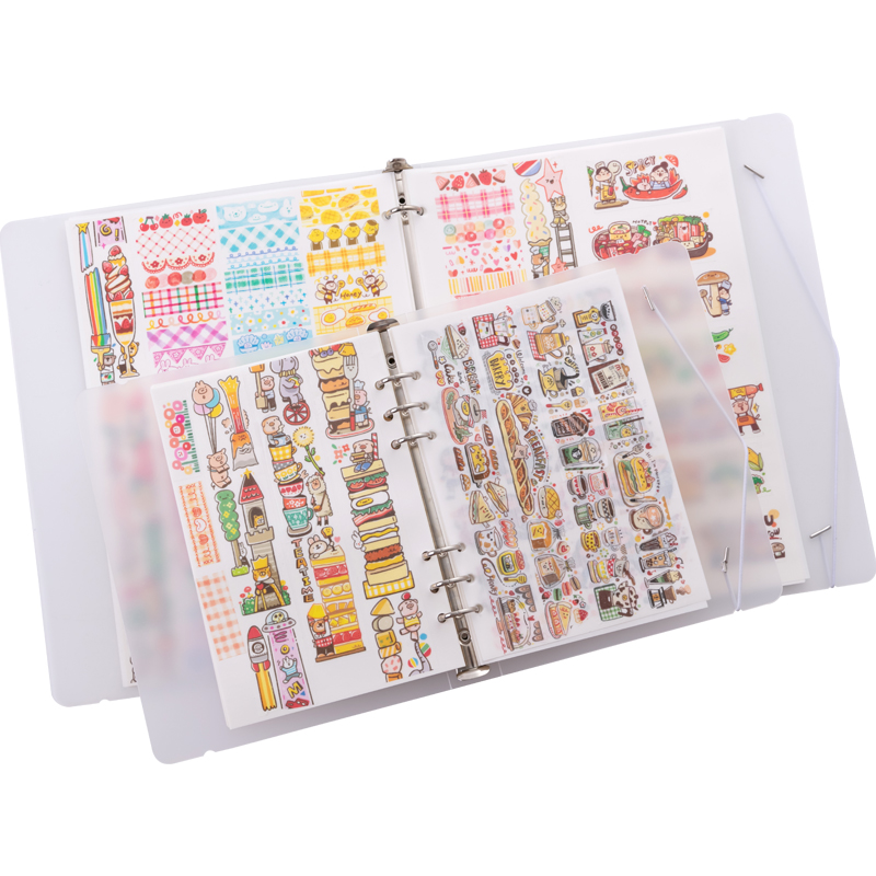 A4 Notebook Tape Decoration Double-sided Loose-leaf Sticker Notebook Release Paper DIY Tape Collection Book School Office Supply