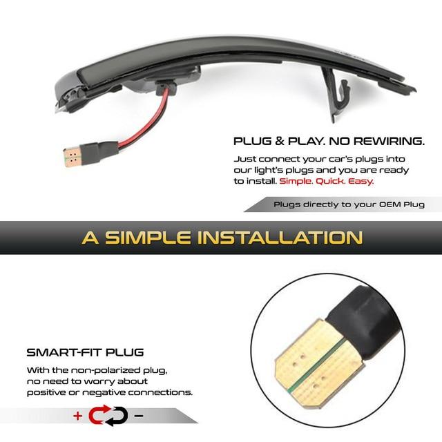 2 pces dinâmico led turn signal lights espelho retrovisor indicador blinker repetidor para ford fiesta mk7 b-max 2008-2017