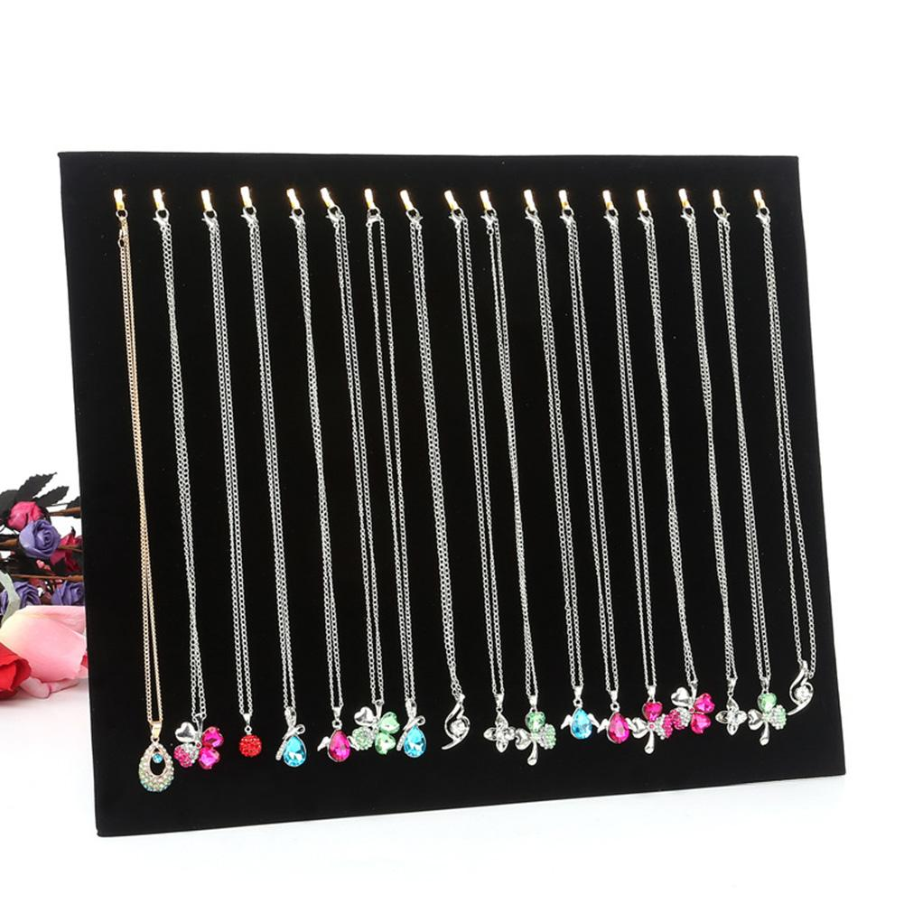 17 Hooks Necklace Bracelet Hang Show Rack Chain Jewelry Display Holder Stand