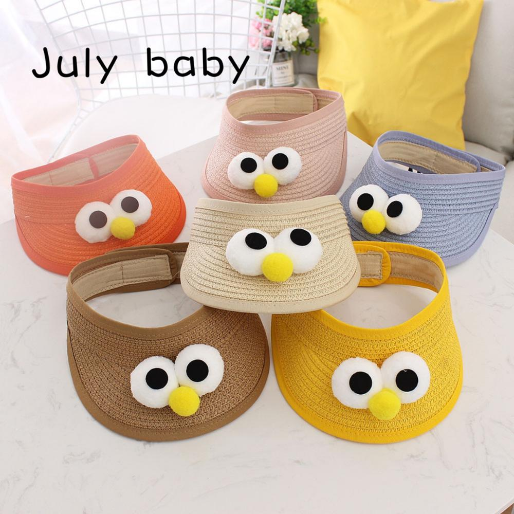 July Baby Summer Straw Hat Cute Super Cute Big Eyes Sun Hat Boy And Girl Ins Trend 1-4 Years Old More Colors