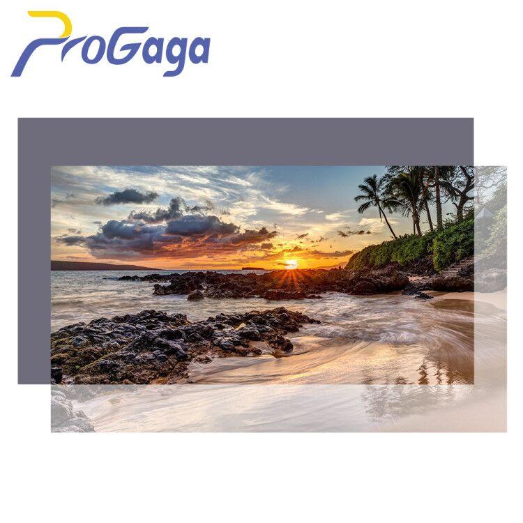 ProGaga проектор высокой яркости Экран 60 100 120 дюймов 16:9 светоотражающая ткань Экран для Espon BenQ XGIMI GA9 проекции