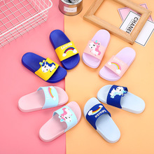 Unicorn Slippers Toddler Slippers Home Shoes Kids Indoor Bedroom Shoes Cartoon Horse Anti-Skidding Bathroom Slippers