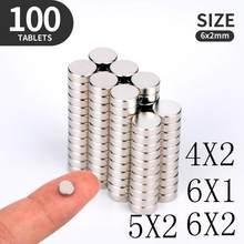 20 50 100 Teile/los 4X2 5x2 6x1 6x2mm Magnet Heißer Kleine Runde Magnet starke magneten der Seltenen Erde Neodym Magnet