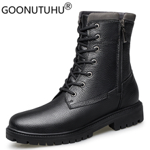 2020 autumn winter mens military boots casual genuine leather shoes male combat army boot man snow boots for men big size 36 48