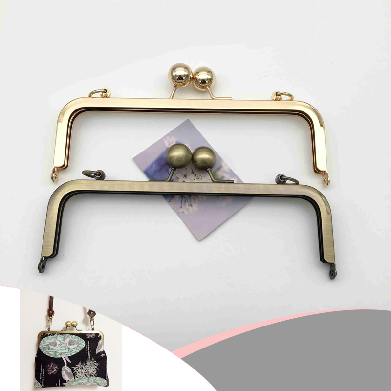 20cm High Quality Screw Metal Purse Frame Big Ball Clasp Chain Hook Bag DIY Parts Handmade Craft Bag Replacment Accessories
