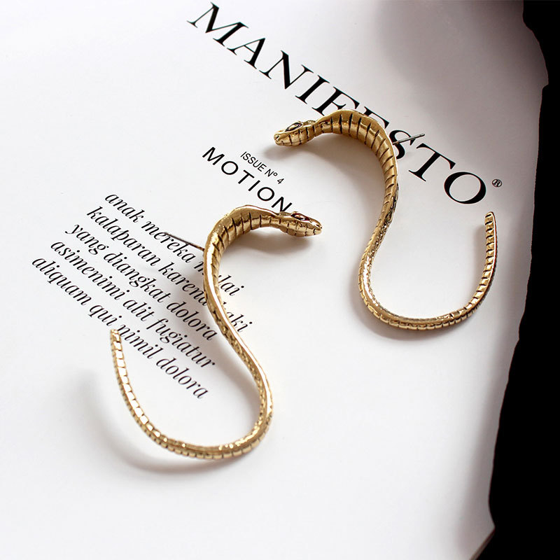 Drop-Earrings Jewelry Cobra Funny Ornaments-Accessories Snake Metal Women Fashion