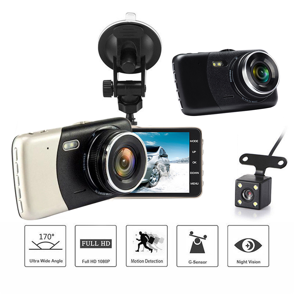 4 <font><b>Inch</b></font> IPS HD 1080P <font><b>Car</b></font> Driving Recorder Dash Cam Vehicle Rear <font><b>Camera</b></font> <font><b>Car</b></font> <font><b>DVR</b></font> Driving Recorder Dashcam Night Vision G Sensor image