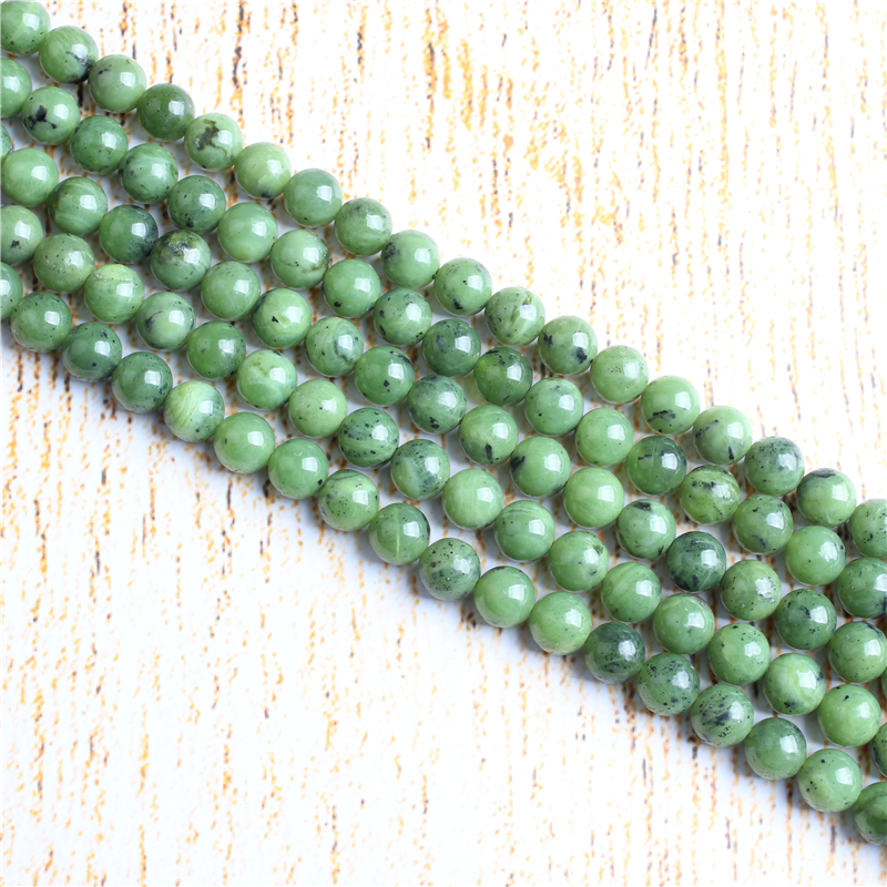 4 6 8 10 12 mm Plus Jade Beads Natural Stones Round Loose Beads For Jewelry Making Bracelet Necklace Diy