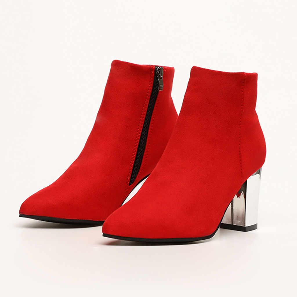 เซ็กซี่รองเท้าส้นสูง Women ข้อเท้ารองเท้าสำหรับสุภาพสตรีรองเท้าชี้ Toe สีแดงสีเขียวสีชมพูรองเท้าสั้นรองเท้า