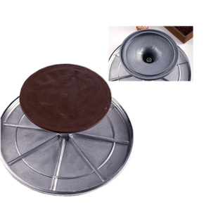 Image 5 - Free Shipping Baking Tool 10 Inch Alloy Mounted Cream Cake Turntable Rotating Table Stand Base Turn Around Decorating Silver