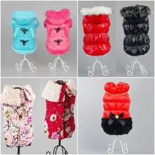 Hot Selling Warm Winter Jacket Coat for Pets Dog Cat British Style Teddy Hood Pet Clothing XS S M L XL  Wholesale Retail
