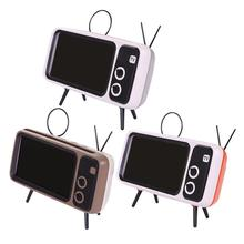 Retro radyo hoparlör, taşınabilir FM hoparlör BT AUX FM fonksiyonu, Stereo ses, TF kart yuvası, süper bas hoparlörlü telefon tutucu