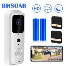 WIFI kapı zili 1080P HD akıllı ev kablosuz Video kapı zili interkom 2MP IR gece görüş İki yönlü ses PIR alarmı bulut Chime
