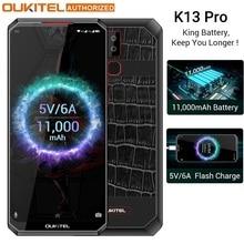 OUKITEL K13 Pro Android 9.0 6.41 inch 19.5:9 4GB 64GB 720*1560 Smartphone 11000mAh Fingerprint 5V/6A