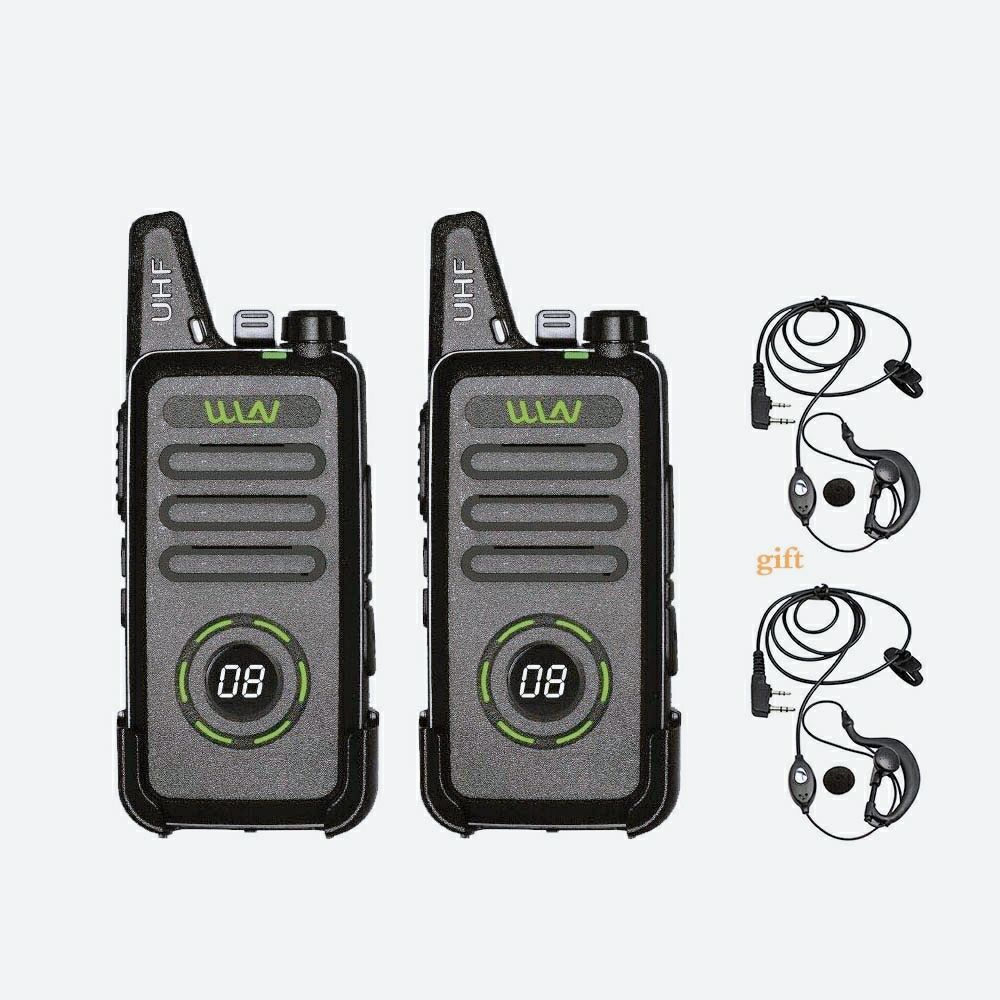 2PCS WLN KD-C1Plus RT22 X6 Mini Walkie Talkie PMR Radio FRS VOX Rechargeable 16CH UHF Two Way Radio Station