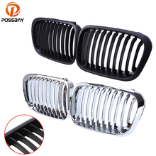POSSBAY Car Center Racing Grille Front Kidney Grill for BMW 3-Series E46 Compact 325ti/328i/320i/316ti/330d