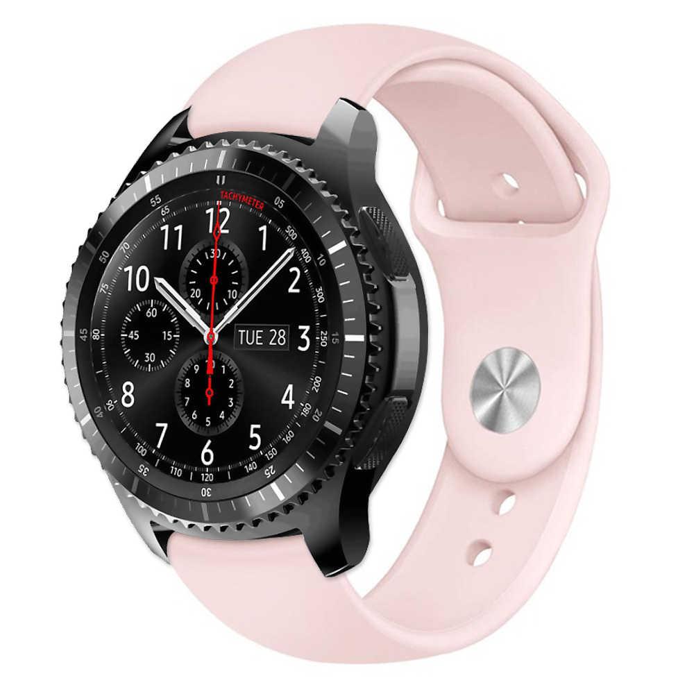 הילוך S3 רצועת לסמסונג גלקסי שעון 46mm 42mm/פעיל S2/ספורט רך סיליקון צמיד Amazfit ביפ רצועת 20mm 22mm להקת שעון