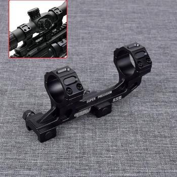 цена на Tactical M4 M16 Ar15 Gun rifle Optic Scope Mount 25.4mm/30mm QD Rings Optical NO Bubble Level For 20mm Weaver Picatinny Rail