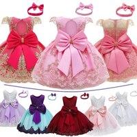 Vestido de princesa de cumpleaños para niñas de 1 a 2 años, conjunto de ropa de bautizo y Navidad para bebés recién nacidos de 12 meses