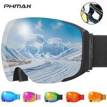 PHMAX-Gafas de esquí antiniebla DE DOBLE CAPA magnéticas, gafas de esquí antiniebla, antideslumbrantes, con protección UV