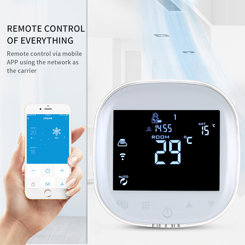 Thermostat WiFi télécommande chaudière à gaz Thermostat de chauffage régulateur de température LCD écran tactile numérique Programmable