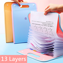 Yisuremia 13Layers Protable Expanding File Folder Organizer For Document A4 Briefcase Pouch Storage Bag School Office Stationery