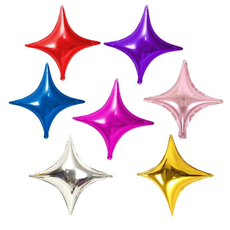 50 шт./лот, 10 дюймов, четыре звезды, воздушные шары, Мини звезды, воздушные шары, вечерние украшения на день рождения, свадебные украшения, вече...