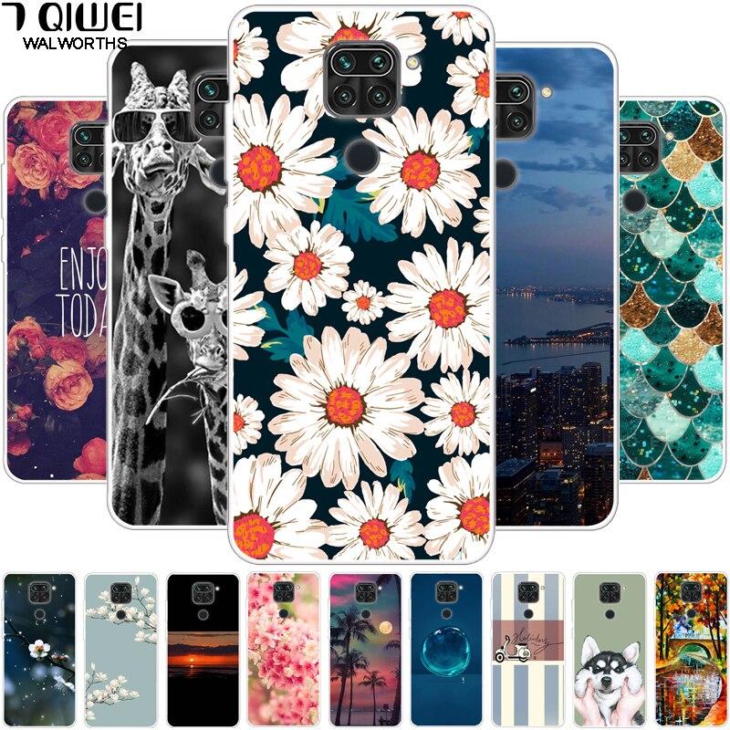 6.53'' For Xiaomi Redmi Note 9 Case Soft Silicon Phone Cover For Xiaomi Redmi Note9 Case Flower TPU Fundas On For Redmi Note9
