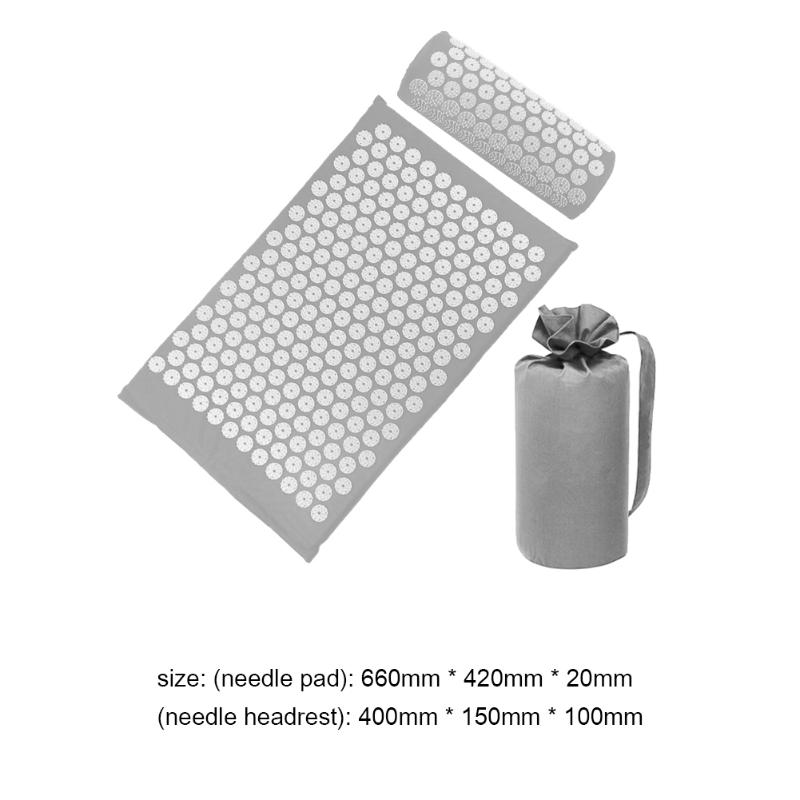 Acupressure Massage Mat with Pillow set to body Relaxation to Release Stress and Tension 31