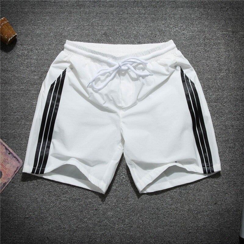 Summer Thin Section Three Bars Shorts MEN'S Sports Pants Quick-Dry Elasticity Teenager Casual Loose Fashion Shorts