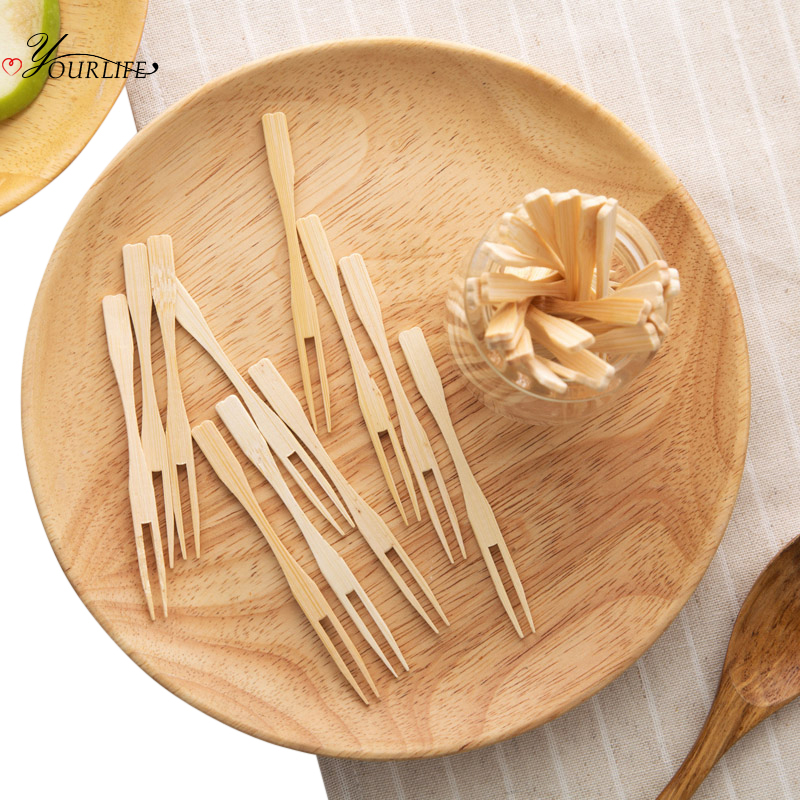 50pcs Birds Plastic Forks Reusable Fruit Picks Toothpick Home Kitchen Supply NEW