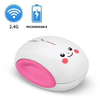 Cartoon Wireless Computer Mouse Rechargeable USB Optical Computer Mice Mini Laptop Mouse Smile Face Design Mice for Kids 2