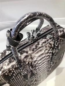 Image 3 - Genuine Python Leather Businessmen Laptop Briefcase Man Large Purse Authentic Real Snakeskin Male Top handle Handbag