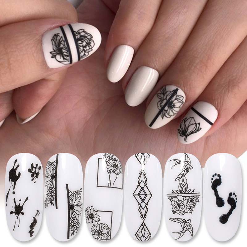 1 Sheet Nail Water Decals Animal Flower Leaf Patterns Nails Tips Transfer Stickers Nails Accessories Nail Art Design Decoration