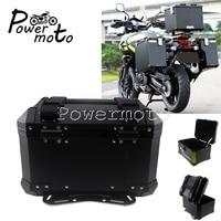 Universal Motorcycle Aluminum Black Top Case Luggage Bags Saddlebags Lockable Side Box For BMW Honda Suzuki Yamaha BMW R1200