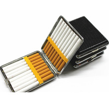Creative 20 Sticks Leather Cigarette Case with Rubber Band G
