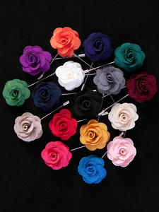 Brooches Accessories Suit Stick Pin Flower-Lapel Boutonniere Tailor-Smith Mens Soloid-Color