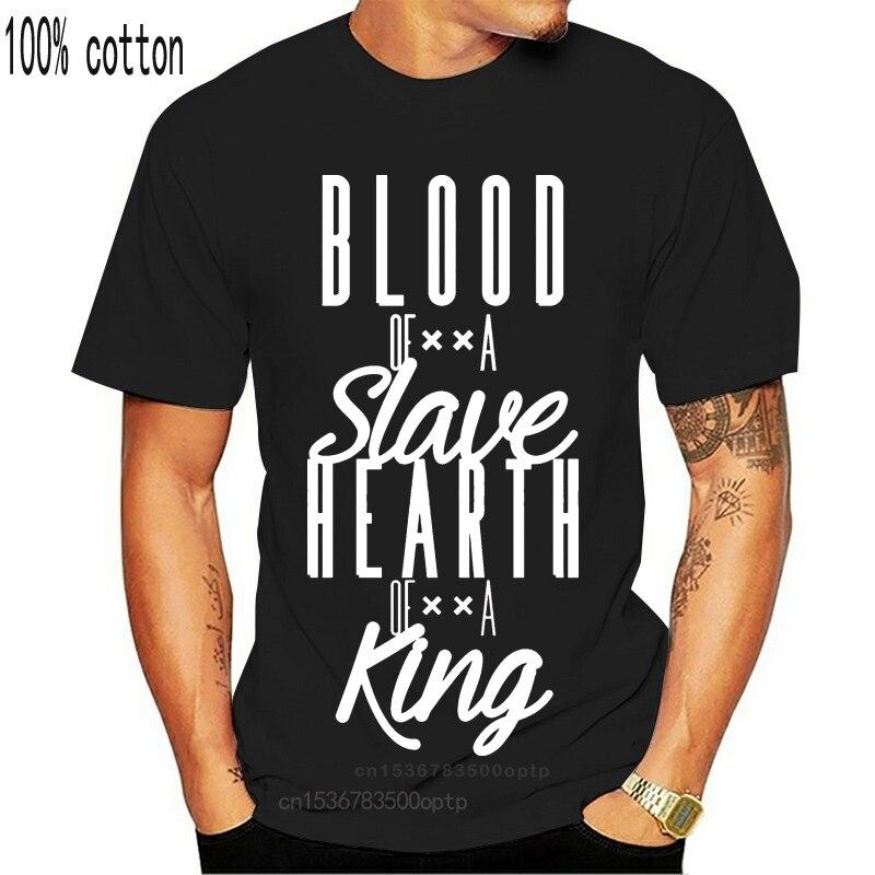 Kan bir Slave Nas İlham t-shirt markalı 2019 harfler Pop üst Tee T Shirt erkekler için S-3xl gevşek tişört gömlek baskı