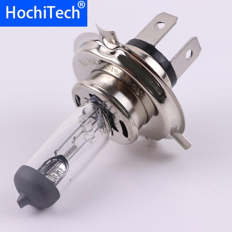 1pc H4 9003 HB2 Hi/Lo Light Halogen Lamp 4500K 12V 100W 55W 3000Lm Warm White Quartz Glass Car HeadLight Replacement Bulb