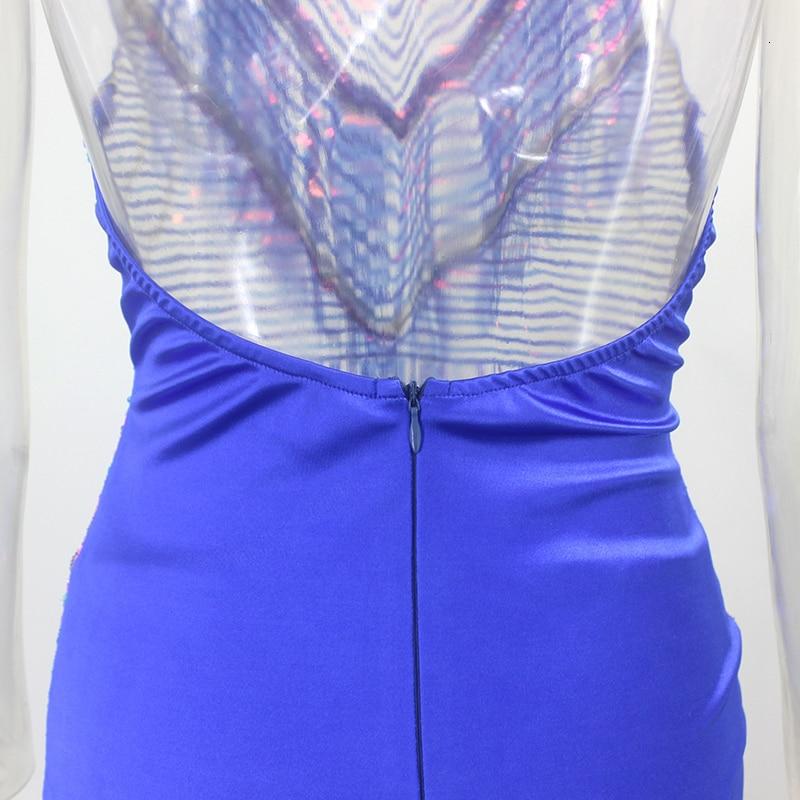 Backless Sequin Mini Dress