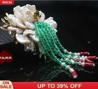 Korean Designer Natural Shaped Pearl Brooch Pendant