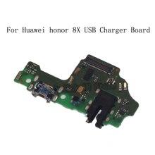USB תקע מטען לוח עבור Huawei Honor 8X מיקרופון מודול כבל מחבר עבור Huawei Honor 8X טלפון החלפת חלקי תיקון