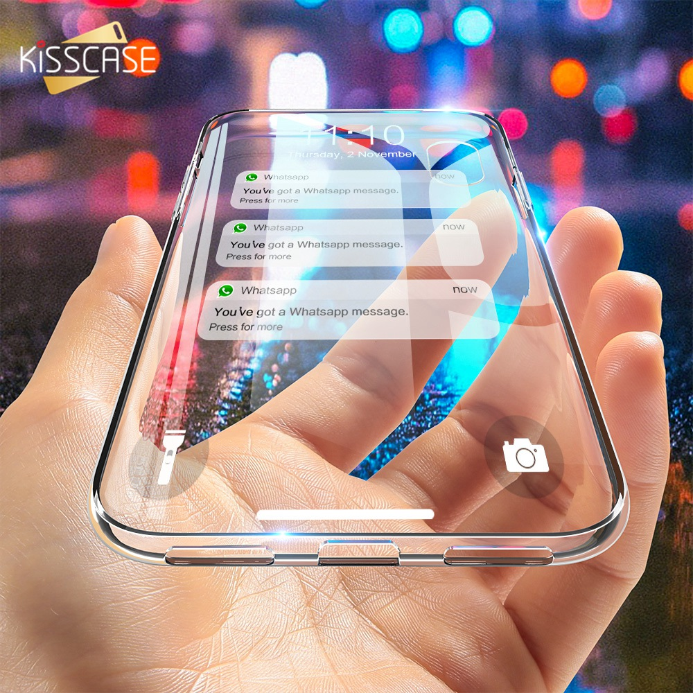 KISSCASE Ultra Thin Transparent Case For iPhone 11/6/6S/5S Cover Soft Silicon Case For iPhone 11 Pro/X/6/6S/7/8 Plus Accessories image