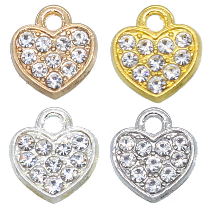 10 Pcs 10 Mm Emas Berbentuk Hati Gasket Gelang Manik Kualitas Tinggi Aksesoris Perhiasan Grosir
