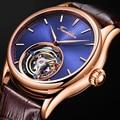 100% Real Tourbillon Horloge Mannen Skeleton Mechanische Horloge Saffier Heren Horloges Topmerk Luxe Klok Mannen Relogio Masculino
