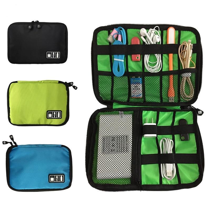 1PCs Portable USB Cable Storage Bag Gadget Organizer USB Charger Power Bank Holder Bag Digital Electronic Accessories Pouch Case