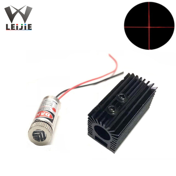 Focusable Cross 650nm 5mW 12*35mm 3V-5V Red Laser Module 12mm LED Module + 1pcs 22mm * 45mm Aluminum Radiator Heat Sink 650nm 250mw line adjustable focusable high power 12 45mm 3v 4 5v red laser module industrial 12mm led ld module