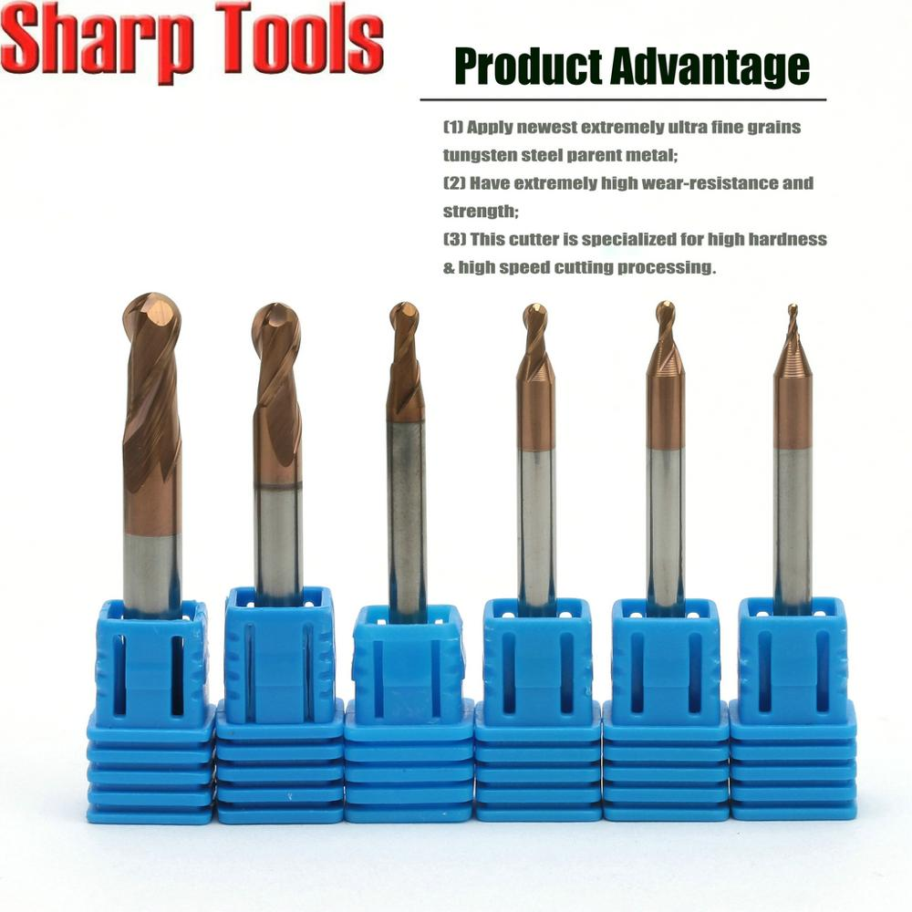 5Pcs//Pack Carbide End Mill Flat 8MM Cutting Dia TiAlN Dia 8mm For CNC Machine
