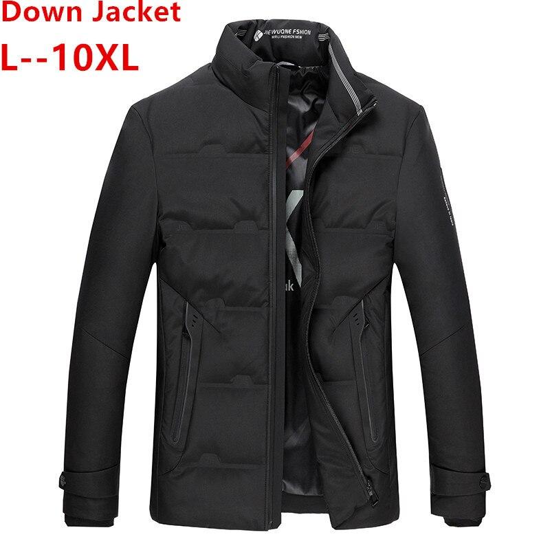 10XL 8XL 2019 Winter Jacket Men High Quality Thermal Thick Coat Snow Parka Male Warm Outwear Men Fashion White Duck Dow Jacket